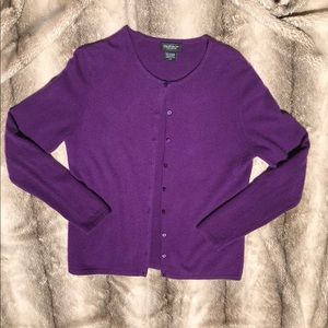 Lord and Taylor Cashmere Cardigan Purple